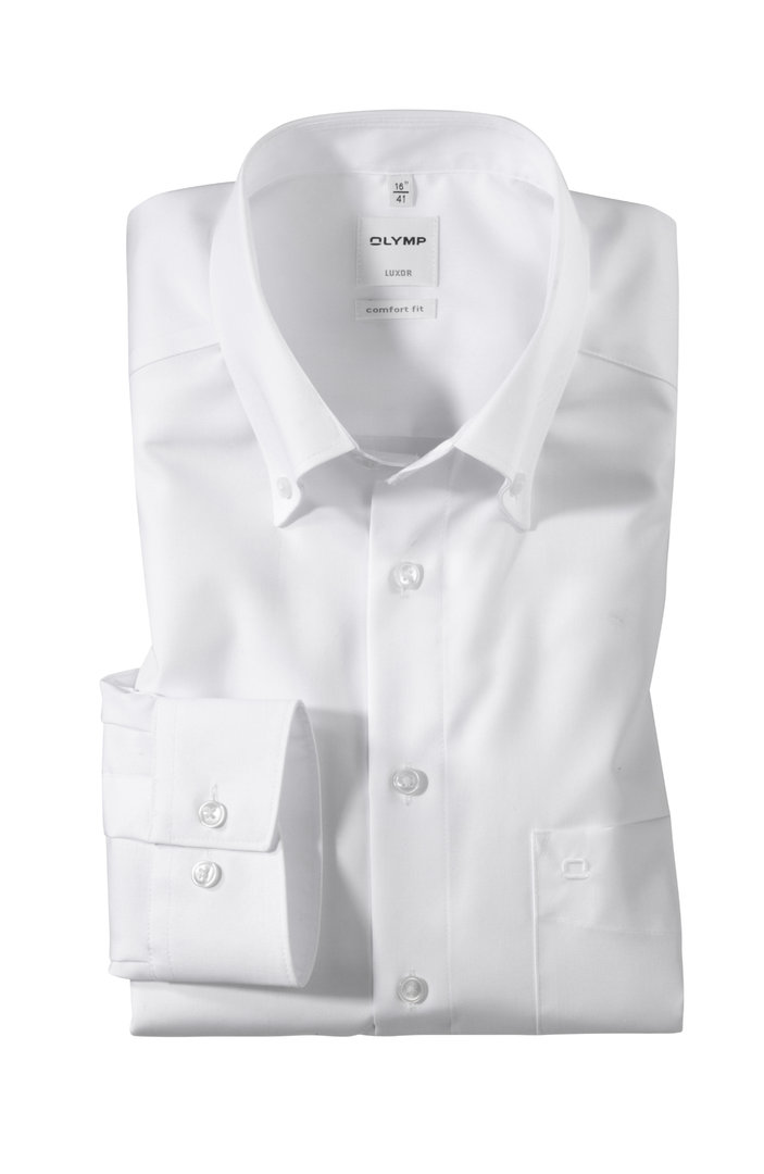 Olymp Luxor Hemd comfort fit - Button Down - Farbe weiss