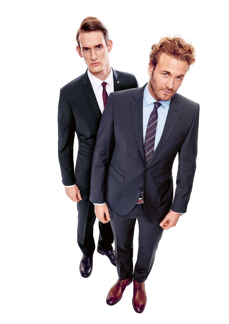 cg club of gents baukasten anzug schlanke passform farbe blau. Black Bedroom Furniture Sets. Home Design Ideas