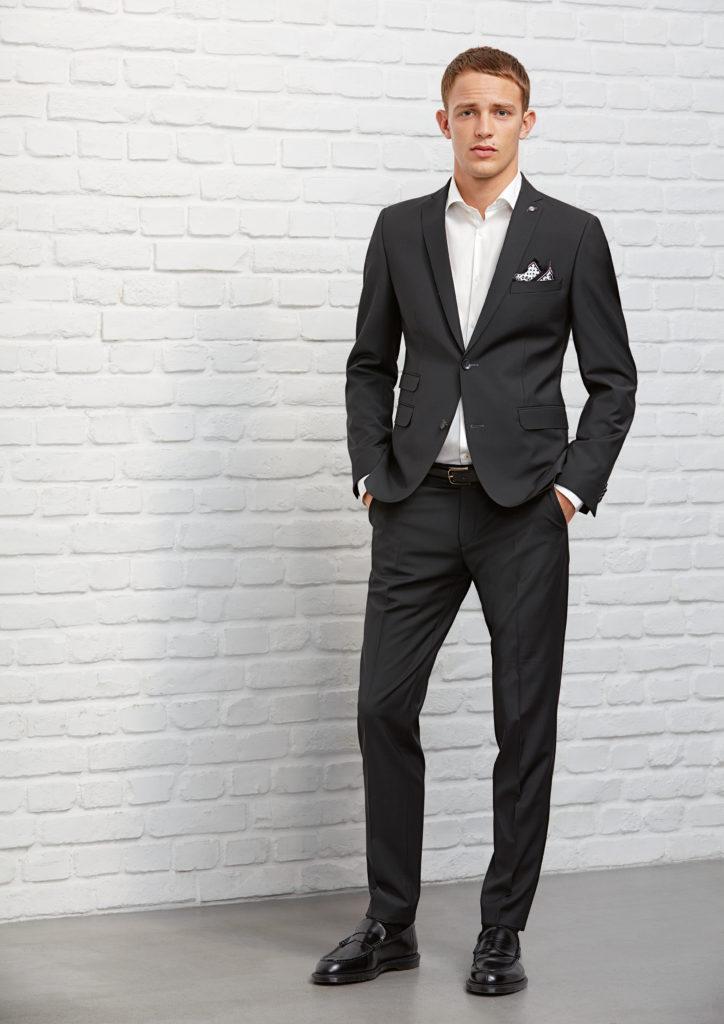 CG Club of Gents Baukasten Anzug Sehr schlanke Passform Slim Fit Farbe Schwarz