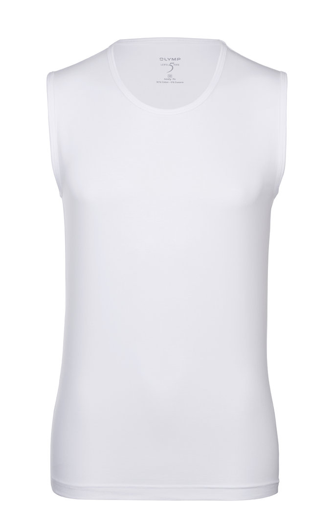 OLYMP T-Shirt Level Five body fit / weiß Tanktop